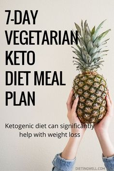 A ketogenic diet is a diet that is low in carbohydrates, high in fat, and has a moderate level of protein. This is a detailed meal plan for the vegetarian ketogenic diet. Foods to eat, foods to avoid and a sample 7-day vegetarian keto diet meal plan & menu. | dietingwell.com/...