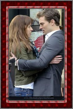Anastasia Steele and Christian Grey in 50 shades movie Shooting http://www.themoviefiftyshadesofgrey.com/jamie-dornan-and-dakota-johnson-filmed-scenes-for-the-movie-fifty-shades-of-grey-in-vancouver/