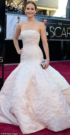 Jennifer Lawrence  in a wedding dress | Here comes the bride: Jennifer Lawrence made a bold move in a bridal ...