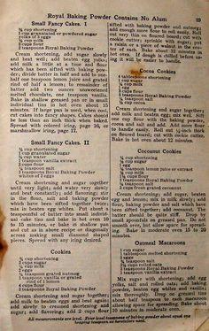 Royal baking power 1922