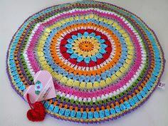 Tecendo Artes em Crochet: Capa p/ Almofada Colorida!