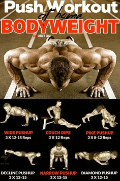 As one of the most common chest exercises for men and women, push-ups have become synonymous with working out. For serious athletes, they're a benchmark of fitness. Being able to perform a certain. Push Workout, Gym Workout Chart, Gym Workout Videos, Gym Workouts, Workout Diet, Chest Workout Women, Home Workout Men, Chest Workouts, Chest Exercises