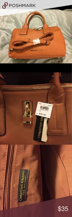 """Christian Siriano Purse NWT cognac colored. Removable strap. All man made material. Very soft. About 13""""w 8""""h Christian Siriano Bags Satchels"""