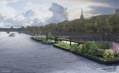 Installations flottantes sur la Seine (2013)