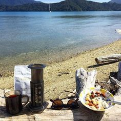 Saturday Coffee down on the lake  by @machinegunmeow |  TAG your coffee friend! |  Shop NOW: http://ift.tt/1uHcmzT Link in Bio  @originalaeropress by originalaeropress
