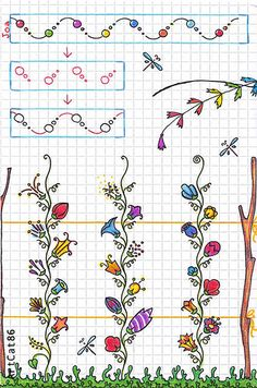 Freehand Doodle patterns by Olga