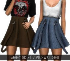 Simpliciaty: Abbey skirt • Sims 4 Downloads