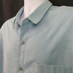 8675d7c027 Tori Richard Mens XL Light Blue Tone on Tone Silk Bend Aloha Hawaiian Shirt  #ToriRichard