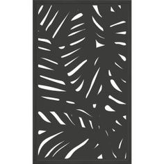 x 2 ft. Espresso Brown Modinex Decorative Composite Fence Panel in Cabo - The Home Depot Decorative Fence Panels, Garden Fence Panels, Metal Panels, Fence Gate, Garden Trellis, Bamboo Fence, Metal Fence, Wood Fences, Wood Arbor