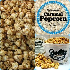 In honor of National Caramel Popcorn Day!!