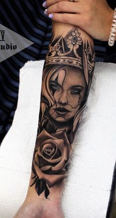 Tattoo arm girl rose tat New ideas Girl Face Tattoo, Girl Arm Tattoos, Girls With Sleeve Tattoos, Arm Sleeve Tattoos, Arm Tattoos For Women, Tattoo Sleeve Designs, Life Tattoos, Body Art Tattoos, Hand Tattoos