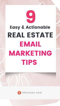 There are easy ways to improve your email game. If you want to send emails that actually convert, grab a cup of coffee and take a few minutes to read our nine easy and actionable real estate email marketing tips for 2022.