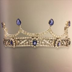 The same sapphire tiara was later re-sold by Christie's on 15 November 2016, for the slightly lesser sum of CHF40,000. Image courtesy of jlf. http://www.christies.com/lotfinder/jewelry/a-19th-century-sapphire-and-diamond-tiara-6029603-details.aspx?from=searchresults&intObjectID=6029603&sid=42a332fb-622d-42ff-8a6b-74a341fc74d1
