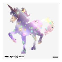 Bursts of Pain & Bubbles of Hope Unicorn Wall Decal