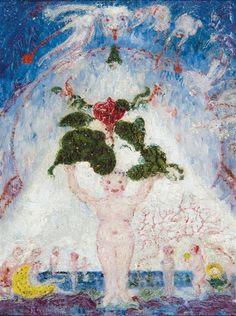 James Ensor - ANGELETS ET MARMOTS EN MULTIPLICATION; Creation Date: 1938; Medium: Oil on panel