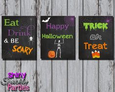 halloween decoration diy halloween decoration halloween signs halloween party decoration chalkboard eat drink be scary 8x10