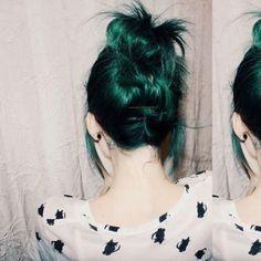 Dark Emerald Tones - The Best Jewel Tone Hair on Pinterest - Photos