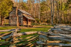 """John Oliver (1793-1863), a veteran of the War of 1812, and his wife Lucretia Frazier (1795-1888) were the first permanent European settlers in Cades Cove. The Olivers, originally from Carter County, Tennessee, arrived in 1818, accompanied by Joshua Jobe, who had initially persuaded them to settle in the cove. While Jobe returned to Carter County, the Olivers stayed, struggling through the winter and subsisting on dried pumpkin given to them by friendly Cherokees. Jobe returned in the Spring…"