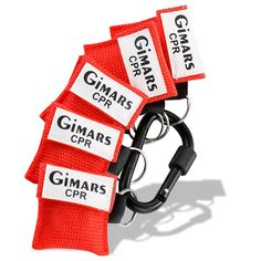 Gimars 6 Pack Mini Res-Cue One Way Valve CPR Mask Keychain Face Shield Barrier Kit with D Ring Carabiner - Easy to Carry for Car, Backpack, Purse, Keys, Glove box, Boat, Work and More ** Learn more by visiting the image link.
