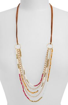 Free shipping and returns on Panacea Pearl & Bead Multistrand Necklace at Nordstrom.com. Faceted crystals and freshwater pearls add eye-catching luster to a layered, multistrand necklace suspended from smooth suede cords.
