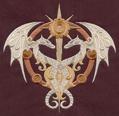 Steampunk Alchemy Caduceus design (UT5171) from UrbanThreads.com