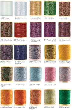 Ricky Tims decorative thread for serging, embellishing, bobbin work and couching.