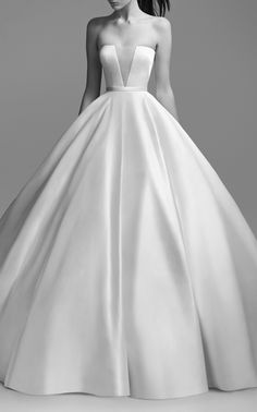 Lindsey Strapless Satin Gown by ALEX PERRY BRIDE for Preorder on Moda Operandi