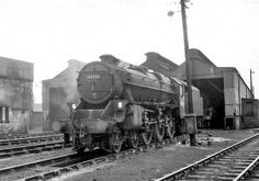 Stanier 'Black Five' 4-6-0 no.44791 stands on Carstairs (66E) MPD on 13th Aug 1966. The shed was adjacent to the station on the northern side of the triangle junction at Carstairs. The 'Black 5' had only short of 20years service, before being withdrawn from Carstairs. Remember that pictures look better if viewed using Light Box (L key).