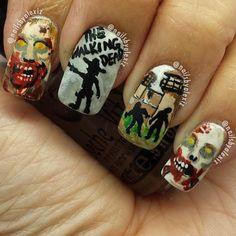 14 Killer Walking Dead Nail Art Designs | The Walking Dead fanatics