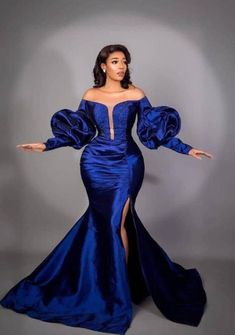 Blue Wedding Gowns, Evening Dresses For Weddings, African Lace Dresses, Latest African Fashion Dresses, African Formal Dress, Ankara Fashion, Dress Fashion, Formal Bridesmaids Dresses, Bridal Dresses
