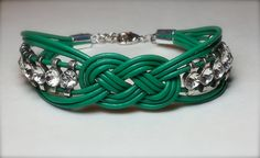 Knot bracelet with rhinestones made by Dizzy Bees, found on Facebook.