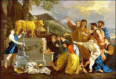 """Só a Javé deve-se culto; o culto, prestado a outros deuses (os deuses """"alheios""""), é idolatria No Primeiro Testamento, o decálogo proíbe a idolatria: Javé é um """"Deus ciumento"""", que não tolera outros deuses nem as suas imagens (Ex 20.3-6; Dt 5.7-10). Os israelitas acreditaram na existência de outros deuses (Jz 11.23s; I Sm 26.19) e deixaram-se seduzir a venerar deuses cananeus, mais tarde também assírios e babilônios (Nm 25.3; Jz 2.12; I Rs 14.22-24; II Rs 21.2-15; Os 2.8-13; Am 8.14 etc.)…"""