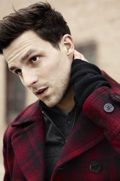 Plaid peacoat. #style #fashion #men