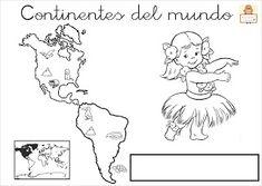 "Proyecto ""La vuelta al mundo"". Fichas para imprimir. Kids Around The World, Around The Worlds, Continents, Montessori, Alaska, Homeschool, Flag, Culture, Activities"