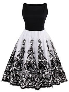 b42013259288 Sisjuly Women's Vintage 1950s Sleeveless Lace Cocktail Party Swing Evening  Dress Size S To 4XL: