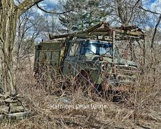 Military Vehicle?old truck,hidden in brush,antique vehicle,vehicle photography,winter find,winter gift,wall art,old classic truck,uniquegift