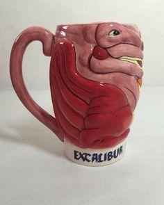 Excalibur Fantasy Faire 20 oz Beer Stein Red Dragon Design D&D Unique Collectors