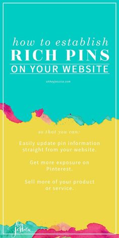 learn how to set-up rich pins for your site or blog so that you can be a rock…