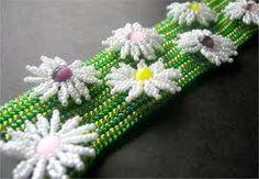 bead daisy tutorial - Google Search