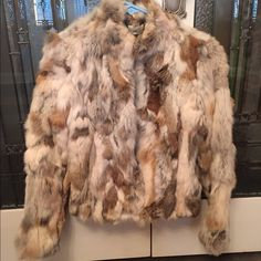 XS Guess Rabbit Fur Jacket Like new Beautiful rabbit fur jacket! Only worn a few times. Great fit! Guess Jackets & Coats