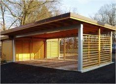 Wooden carport kit