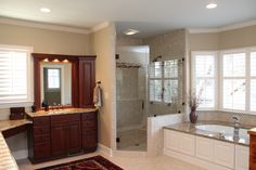 Showplace cabinets in master bath from DreamMaker, NC