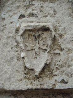Templar cross in Cour de la Commanderie, La Rochelle