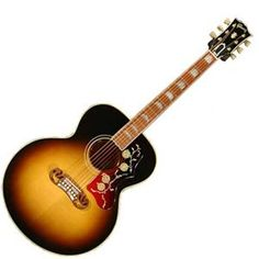 The Gibson SJ-200 True Vintage Acoustic Guitar, Vintage Sunburst delivers the look, feel, and sound of Gibson's original Super Jumbo as it first appeared in 1937. Gibson Acoustic's master luthiers in Bozeman, Montana have recreated a legend.  The Gibson SJ-200 True Vintage captures the deep, well-balanced tone and powerful sound of these celebrated guitars, and are almost identical in makeup and structure as the most popular 1950's versions including an Adirondack red spruce top and VOS…