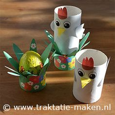 TP tube chickens and egg holder