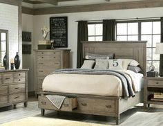 Country chic bedroom - HE would love this!