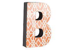 Letter B, Orange Geometric on OneKingsLane.com