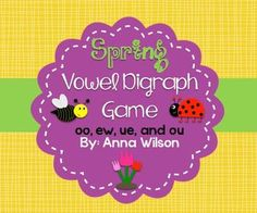 vowel digraph bang game FREE