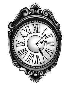 Strepik Clock Tattoo  #temporary #tattoo #ancient #clock #strepik #t4aw #tattoos