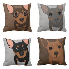 Min Pin Pillows are finally available in zazzle store